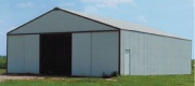 machine shed, workshop with metal roofing